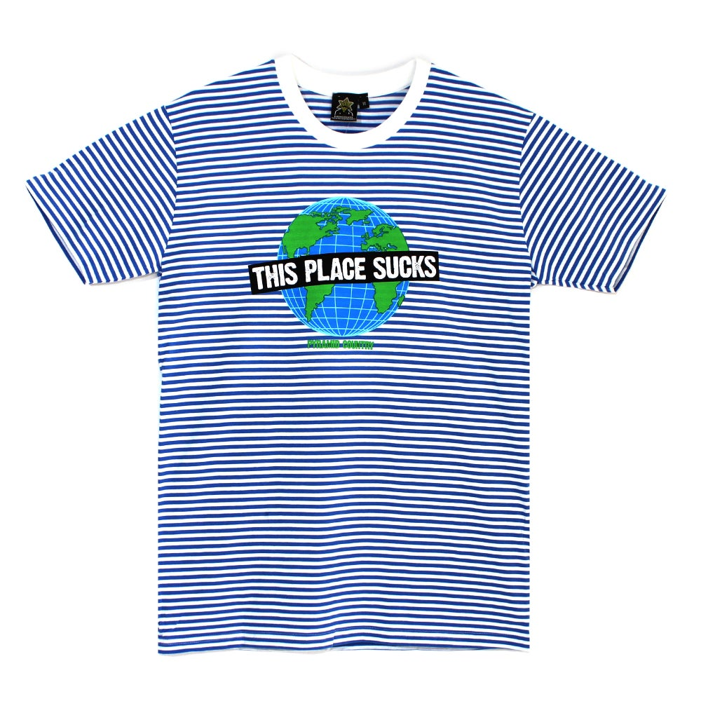 This Place Sucks Tee - Striped
