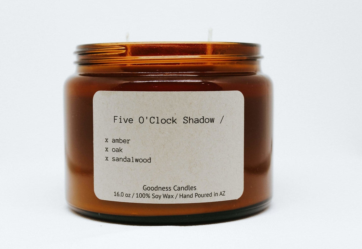 Five O'Clock Shadow Goodness Candles