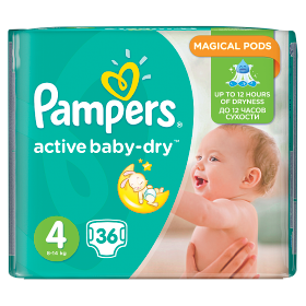 Pampers Active Baby pelenka Maxi 7-14kg 36db
