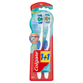 Colgate fogkefe 360 Whole Mouth Clean Soft 1+1