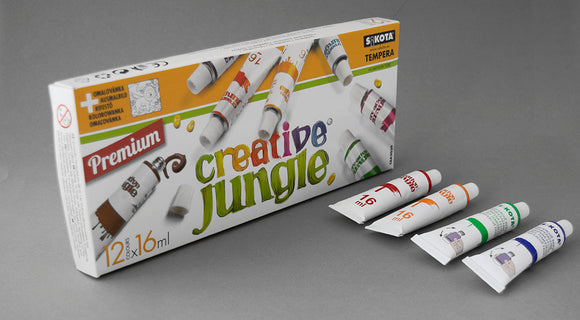 12-ES CREATIVE JUNGLE NAGYTARTÁLYOS TEMPERA 16ml