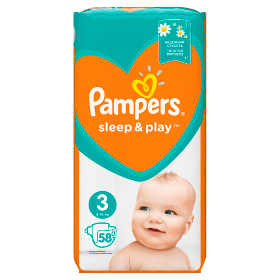 Pampers Sleep&Play pelenka Midi 4-9kg 58db