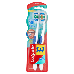 C39318Colgate fogkefe 360 Whole Mouth Clean 1+1