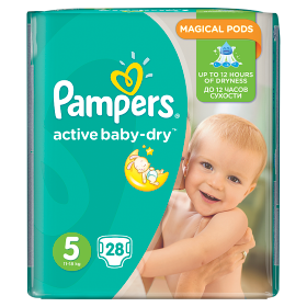 Pampers Active Baby pelenka Junior 11-25kg 28db