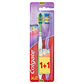 Colgate fogkefe ZigZag Plus közepes 1+1db