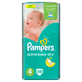 Pampers Active Baby pelenka Maxi 7-14kg 58db