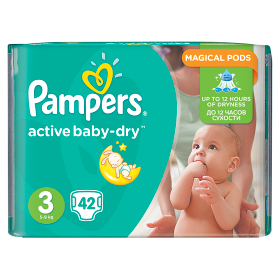 Pampers Active Baby pelenka Midi 4-9kg 42db
