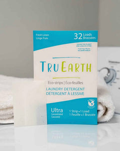 Tru Earth Eco-strips Laundry Detergent (Fresh Linen) - 32 Loads