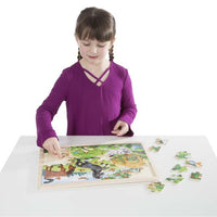 Melissa & Doug - 48pc Wooden Jigsaw - Frolicking Horses
