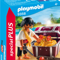 Playmobil - Special Plus - Pirate with Treasure Chest - 9358
