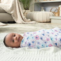 Aden and Anais - Classic Muslin Swaddles - Trail Blooms 4pk