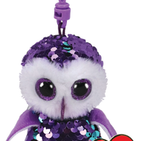 Ty Beanie Boo - Sequin Clip On - Moonlight the Owl