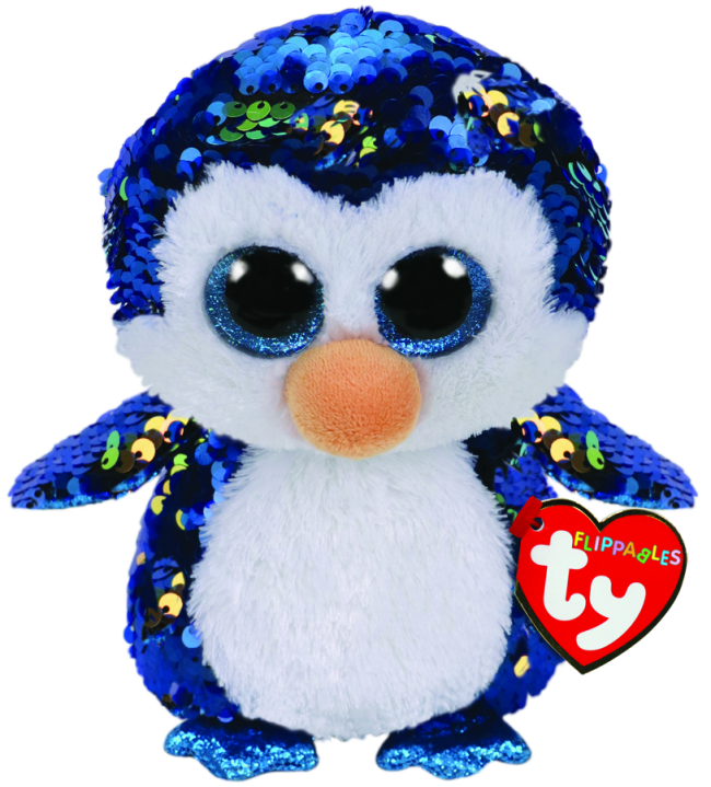 Ty Beanie Boo - Sequin Regular - Payton the Penguin