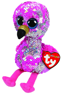 Ty Beanie Boo  - Sequin Regular - Pinky the Flamingo