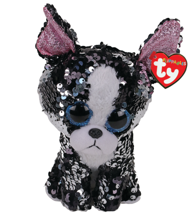 Ty Beanie Boo - Sequin Medium - Portia the Terrier