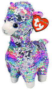 Ty Beanie Boo - Sequin Medium -  Lola the Llama