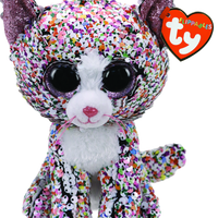 Ty Beanie Boo - Sequin Regular -Confetti the Cat