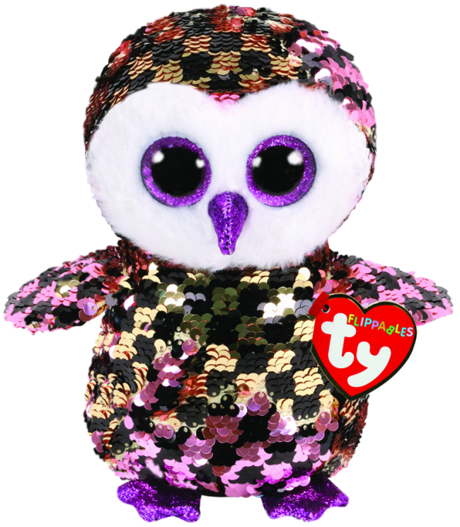 Ty Beanie Boo - Sequin Regular - Checks the Checkered Owl