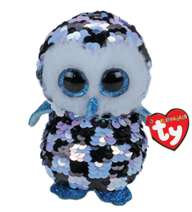 Beanie Boo Flippable - Topper Checkered Owl - Regular