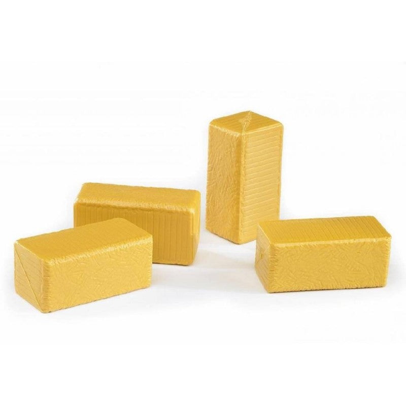 Bruder - 1:16 Square Block Hay Bales 4 Pieces 02342