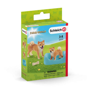 Schleich - Farm World - Shiba Inu Mother & Puppy - 42479
