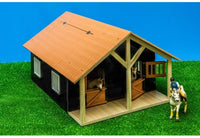 Kids Globe - Horse Stable with Workshop 1:24