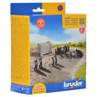 Bruder - Accessories for Front Loader: Box-Type Pallet, Winch and Forks