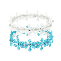 Pink Poppy - Snow Princess Snowflake Bangle