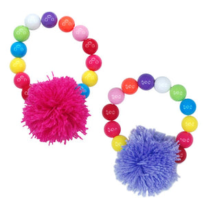Pink Poppy -  Pom Pom Party Bracelet