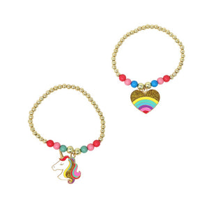 Pink Poppy - Rainbow and Unicorns Bracelet