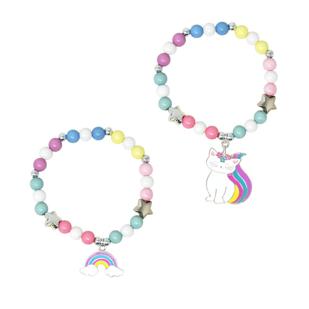 Pink Poppy - Rainbow Caticorn Bracelet