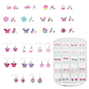 Pink Poppy - Pierced Earrings
