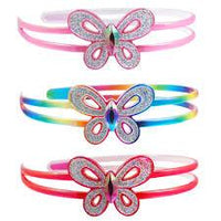 Pink Poppy - Rainbow Butterfly headband