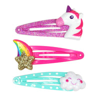 Pink Poppy - Star, Cloud and Unicorn Hairclip set