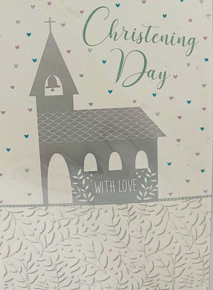 Card - Christening Day Church