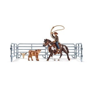 Schleich Team Roping with Cowboy - 41418