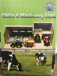 Kids Globe - Cattle and Machinery Shed 1:32