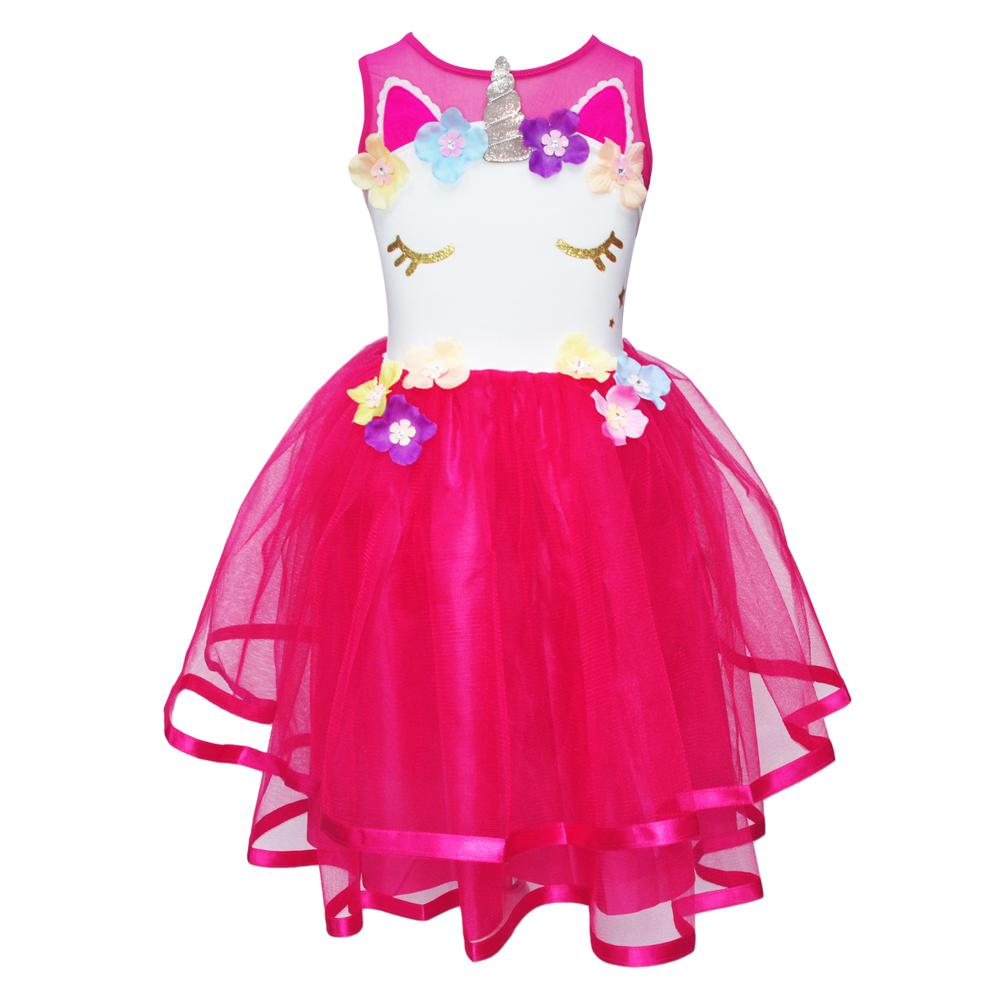 Pink Poppy - Unicorn Dress - Size 5/6 - Hot Pink