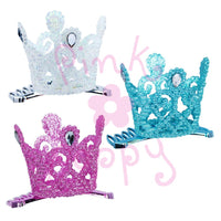 Pink Poppy - Glitter Crown Comb - Princess