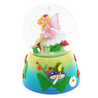 Pink Poppy - Snow Globe Musical - Forest Fairy