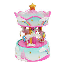 Pink Poppy - Musical Carousel - Unicorn