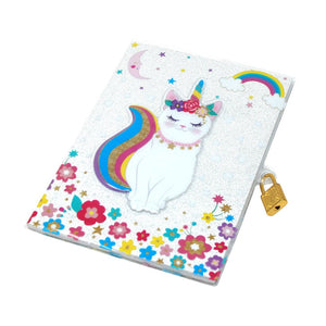 Pink Poppy - Lockable Diary - 3D Caticorn