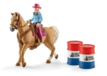Schleich Barrel Racing with Cowgirl - 41417