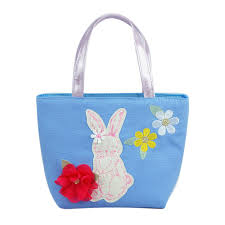 Pink Poppy - Into the woods bunny handbag - Blue