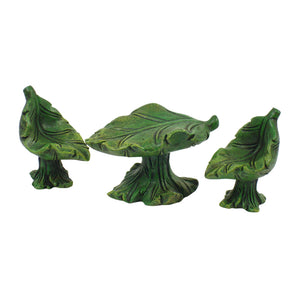 Jopaz - Fairy Garden Furniture - Mini Leaf set of 3