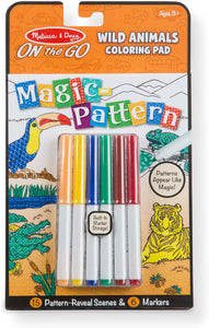 Melissa & Doug - On the Go - Magic Pattern Colouring - Wild Animals