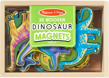 Melissa & Doug - Wooden Magnets in a Box - Dinosaur