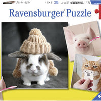 Ravensburger - 3x49pc Funny Animal - RB08028-1