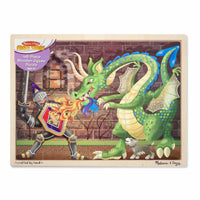 Melissa & Doug - 48pc Wooden Puzzle - Knight & Dragon