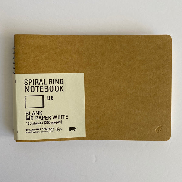 Spiral Ring Notebook - MD Paper White (landscape)